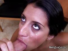 Soffie the latina maid facialized with cum cream