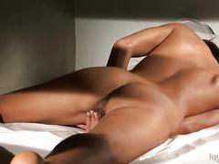 hardcore, big pussylips, masturbating, small tits, erect nipples, close up, brunette, solo girl, fingering, orgasm, dominika, shaved pussy