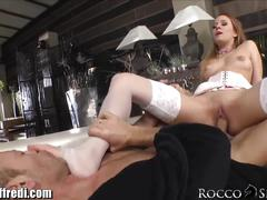 Roccosiffredi euro threesome with feet sucking