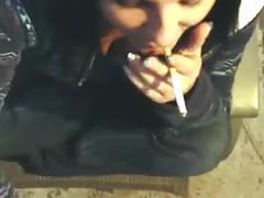 Camera phone smoking bj