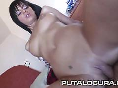 Black angelika sucking and riding cock