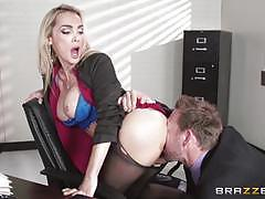 devon, riding, big tits, doggystyle, cumshot, facial, blonde, desk, office, reverse cowgirl, work, secretary, pussy licking, pantyhose