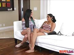 Lucia lace eats at her stepmoms pussy