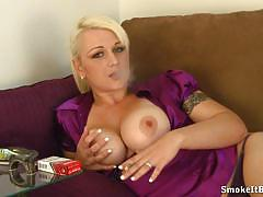 blonde, horny, busty, porn, close up, mouth, amateur, fetish, homemade, pov, smoking