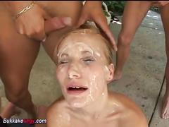 amateur, bukkake, cumshots, group sex, german, female choice