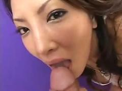 Sexy young asian gives head pov