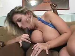 Sara jay sucks some black cock