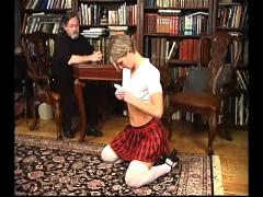 Blonde receives her punishment from www.bdsmfinder.com