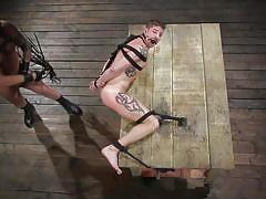 ball gag, bdsm, whipping, rope bondage, domination, anal, tattooed, bound gods, kink men, colby jansen, sean maygers