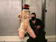 Melany strappado bondage training part-4