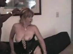 Chubby slut wife gets gangbanged by 4 big black cocks
