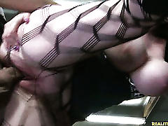 fucking, boobs, big boobs, fishnet, amateur