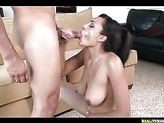 Bouncy boobed bitch loves it hard
