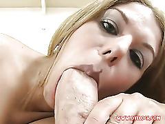 Blonde bimbo taped blowing her secret fuckbuddy