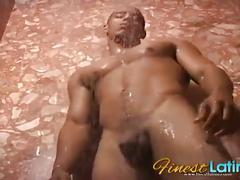 Hunky latino joey jerks his big cock