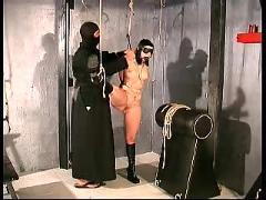 Slave cat hard bondage training part 1