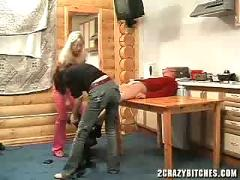 Guy forced to fuck by two crazy girls (abuse fantasy)