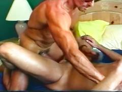 Hard bodied muscled daddies furiously pounding ripe butt holes
