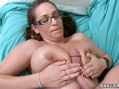 Busty brunette tit fucking and cock sucking
