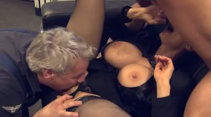 Hot mature in stockings with bigs tits