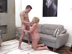 Old fashioned fuck with blonde granny