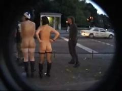 public nudity, ooutdoor, teen, funny, fun, bdsm