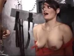 Fishnet spanking