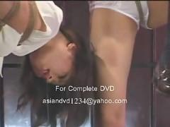 Two asian teen  schoolgirl captured and in bodnage tied togeather abused and forced to cum and squirt