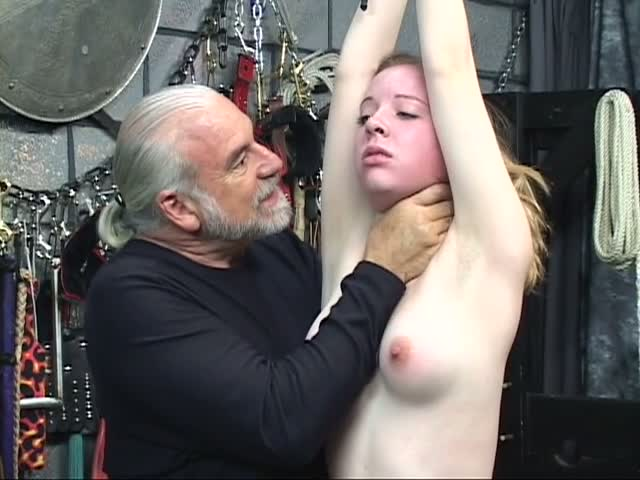 Sleeping babe gets her mouth taped and hands bound