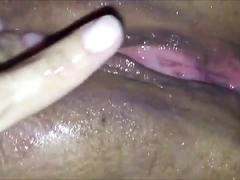 Ejaculating on a horny wet bbw vagina