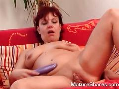 masturbation, mature, dildo, milf, redhead, toy, more