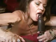 Busty brunette babe loves big black cock interracial