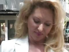 public, milf, vintage, outdoors, outside, mom, mother, busty, big-boobs, classic, cumshot, facial, blowjob, riding, doggystyle