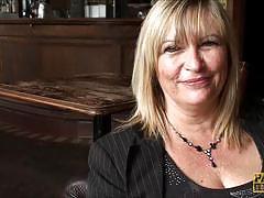 Interview with blonde milf