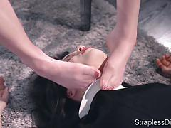 Sexy doll is strapon fucked hard