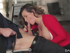 Office worker danica dillan fucks her colleague on a desktop