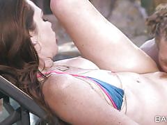 Hot outdoor sex with bikini hottie kassondra raine