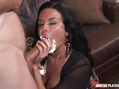 Big breasted milf veronica avluv boned hard on the sofa