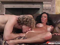 veronica avluv, brunette, blowjob, big tits, doggystyle, cumshot, milf, busty, sofa, cream, doggy, one on one, hard, mature, eating pussy, licking pussy