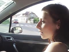 Back seat fucking for gorgeous redhead antonia sainz