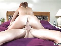 Wild babe gets her ass hammered