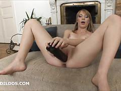 anal, blonde, toy, masturbation, toys, dildo, solo, brutal, insertion, masturbate, masturbating