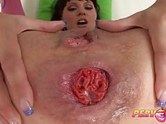 Prolapse ass fucking for brunette