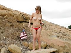 Outdoor solo masturbation with alaina fox