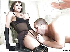 Busty shemale's wish comes true @ fucking she-males #05