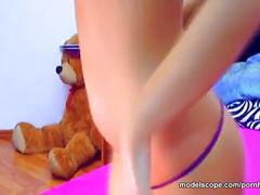 Modelscope hot avenangelica nice tits masturbating with fingers