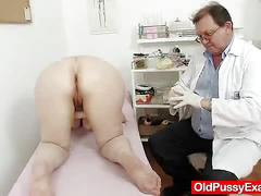 Woolly gramma enema during a medical examination