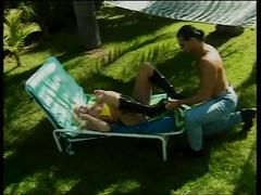 hardcore, tube8.com, blonde, outdoors, big tits, bald pussy, fingering, cock sucking, reverse cowgirl, doggy style