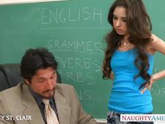 Slim schoolgirl trinity st. clair take cock