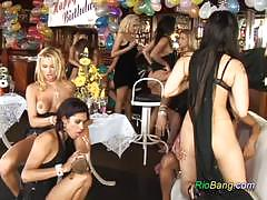 Sensual brazilians enjoy lesbian fun